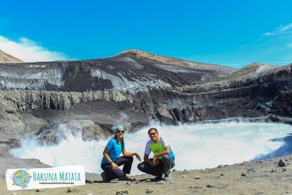 Caro y Santi en el Volcán Copahue (Neuquen, Arg)